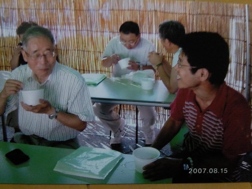 鍵山先生と(靖国2007.8.15)