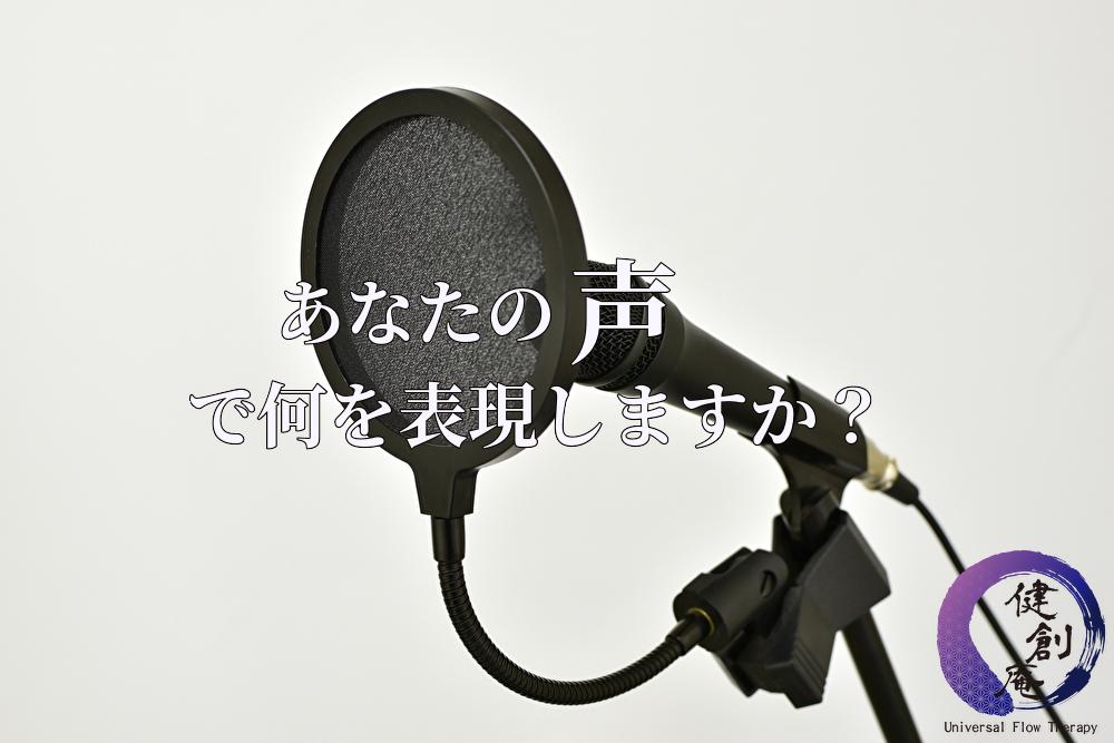 あなたの声で何を表現しますか?
